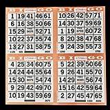 4 on Pushout Bingo Paper Cards - Orange - 250 sheets - 1000 cards