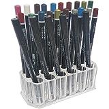 Acrylic Eyeliner Lip Liner Holder Organizer, Makeup Brush Holder, 26 Slots Makeup Pen Cosmetic Display Case