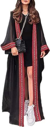 YouKD Summer Long Kaftan Bohemian Beach Kimono Swimsuit Cover Up Plus Size Dress for Women