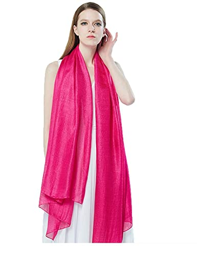 Xiouli Women's Evening Party Super soft Scarves Beach Shawls 7501(Free,Rose red)