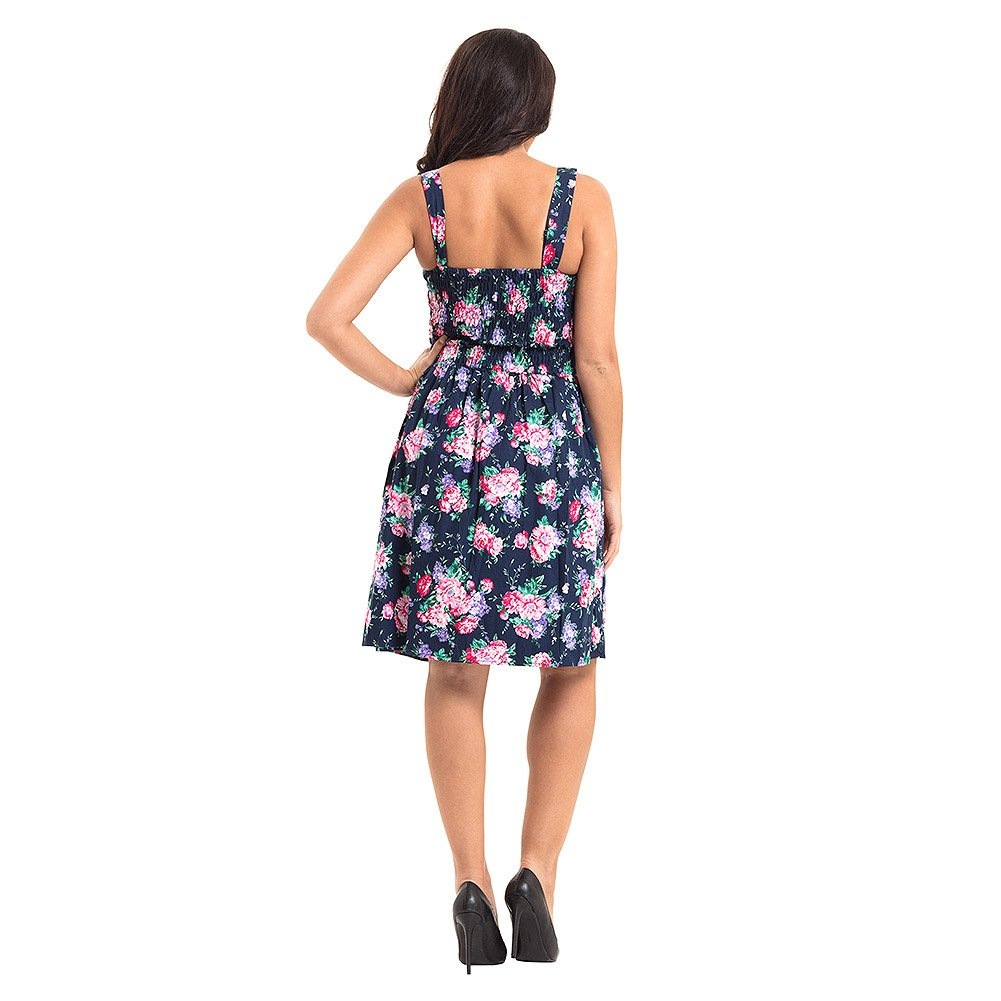 ca34a9db3b6 Voodoo Vixen Ethal Navy Floral Summer Dress (XXL)  Amazon.co.uk  Clothing