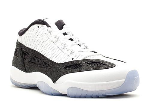 low priced ae83d 765c3 Nike AIRE Jordan 11 Retro Low Mens 306008-100 (12, White Metallic Silver -  Black)  Amazon.ca  Shoes   Handbags