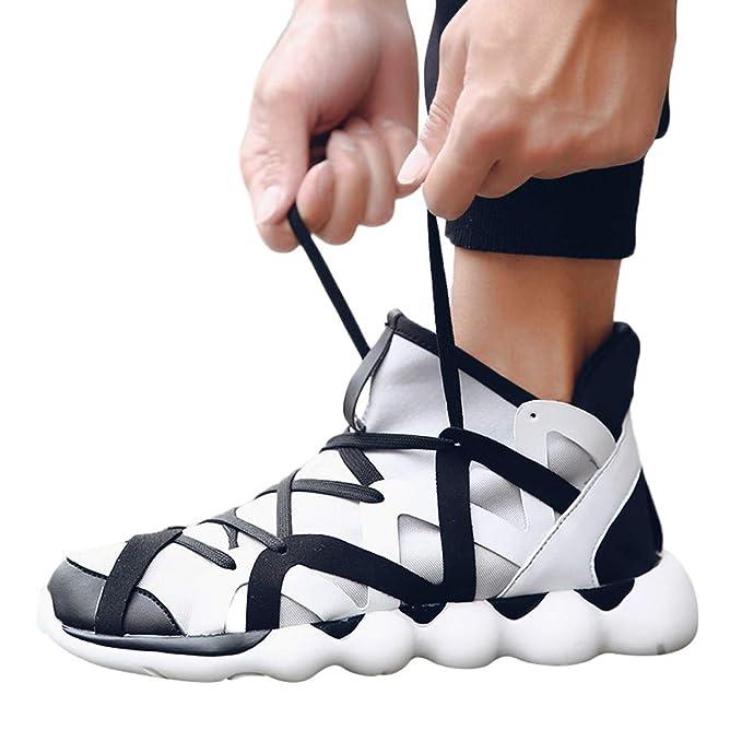 ❤ Zapatillas de Deporte para Hombres, Moda Casual Shoes Trend Trend Weave Weave Transpirable con ligereza Zapatillas de Deporte Absolute: Amazon.es: Ropa ...