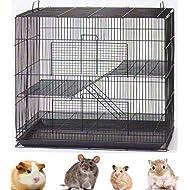 "NEW 3 Levels Ferret Chinchilla Sugar Glider Rats Animal Cage 24""Length x 16""Depth x 24""HeightBlack"