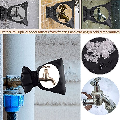 1PC Backflow Preventer Insulation Cover Garden Faucet Socks Protector Water Sprinkle Insulation Wrap Spout Cover Pouch Outdoor Faucet Covers for Winter