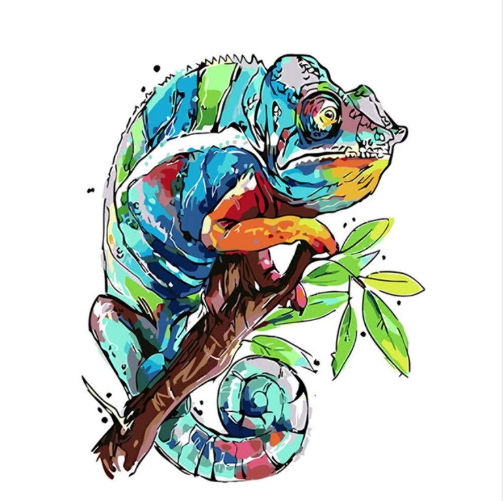 CZYYOU DIY Digital Malen Nach Zahlen Froschreise Färbung Wandkunst Bild Geschenk - Mit Rahmen - 50x60cm B07NKNY2FR | New Listing