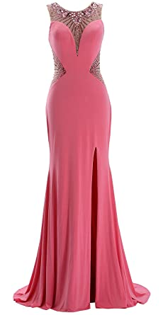 Dress Women Formal Prom Beaded Jersey Evening Gown Long Macloth 8XOkn0wP