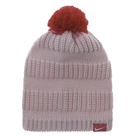 Amazon.com  Nike Pom Pom Hi-Low Knit Beanie cap hat 7 16 (Baby Pink ... 131add01789