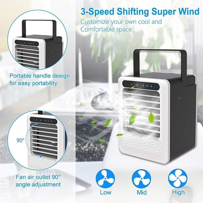 Mini Luftkühler Klimageräte Klimaanlage Air Cooler Ventilator mit Befeuchtung