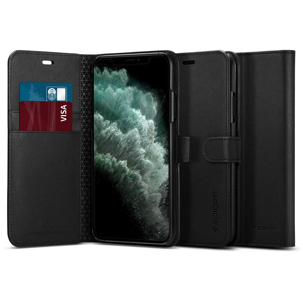 Funda Spigen Wallet S iPhone 11 Pro Max, Negra