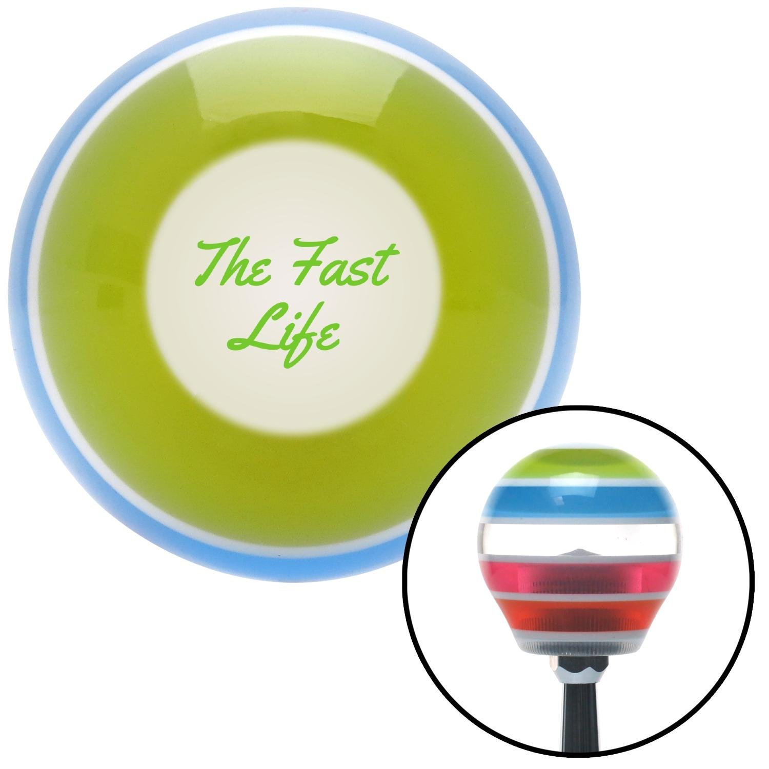 American Shifter 272674 Green The Fast Life Stripe Shift Knob with M16 x 1.5 Insert
