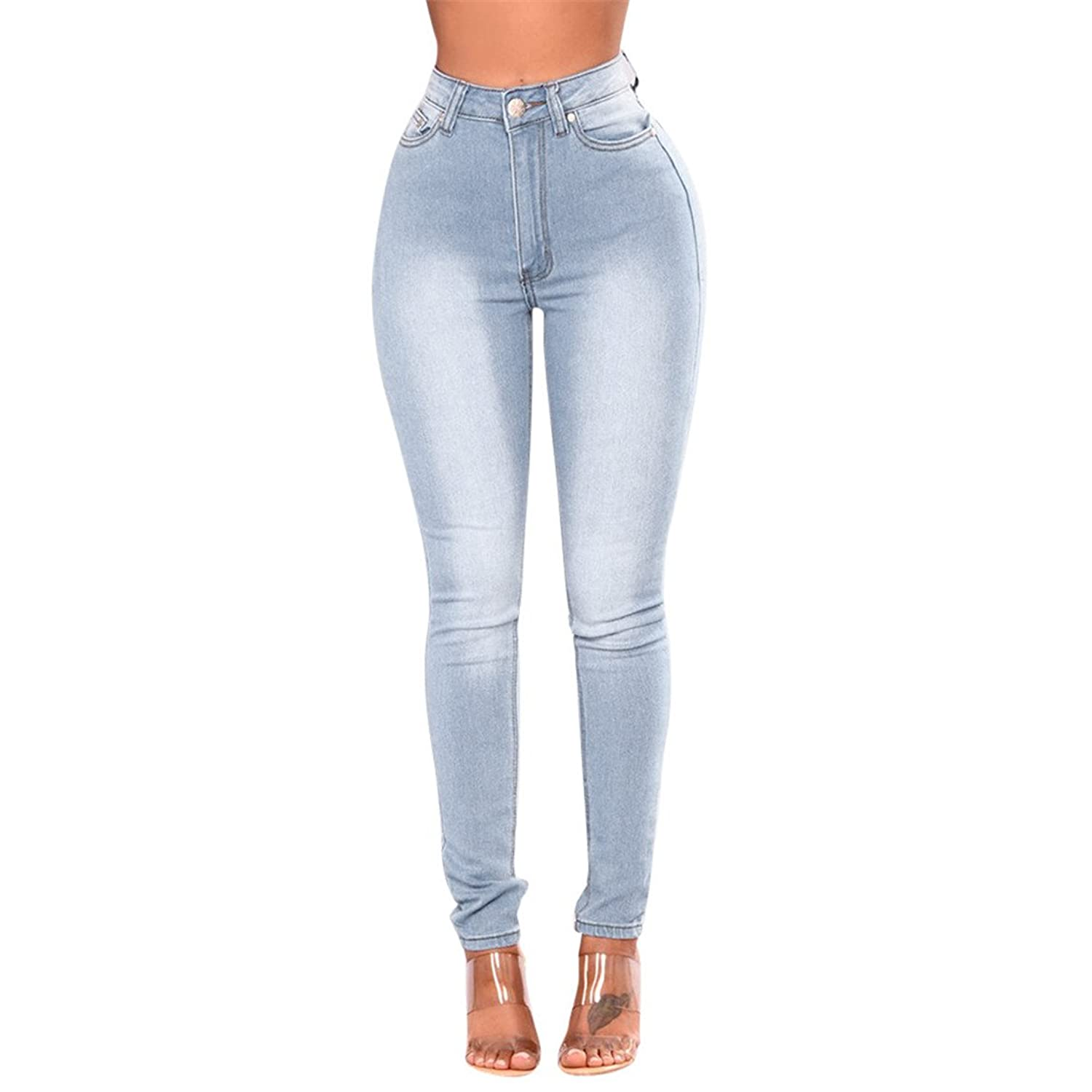 d60b08add8b Top11: Nadition Jeans Clearance !!! Womens Super Comfy Skinny Pants High  Waist Stretch Slim Pencil Trousers