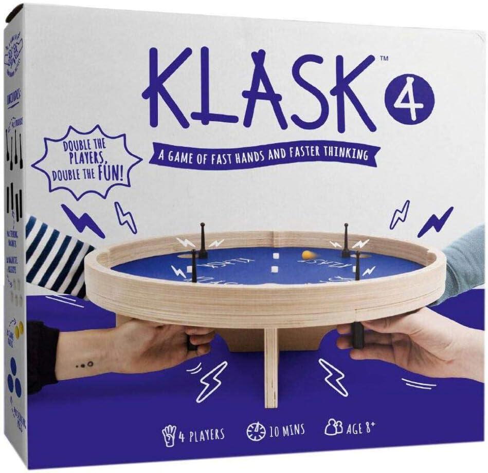 GAMEFACTORY 646240 Klask 4 - Juego de Habilidad, Multicolor: Amazon.es: Juguetes y juegos