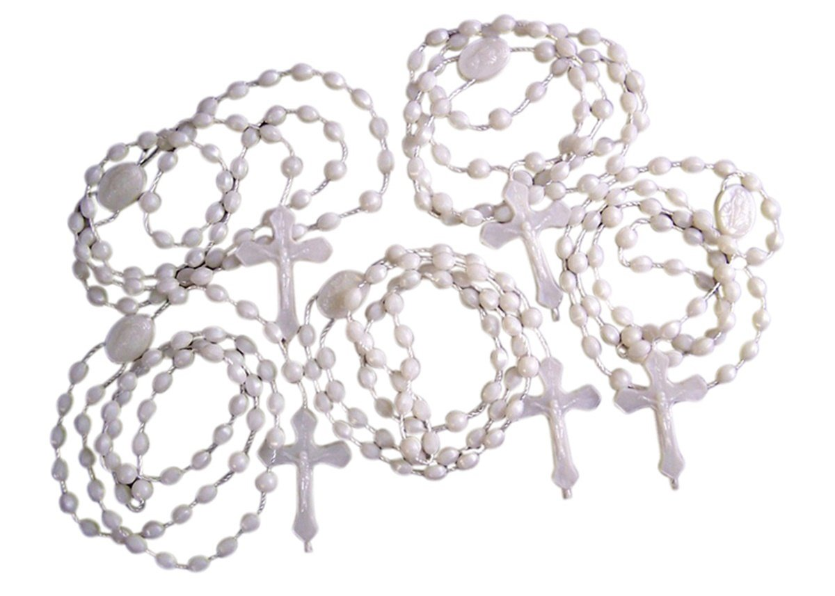 Amazon Moulded Acrylic Luminous Prayer Bead Cord Rosary With