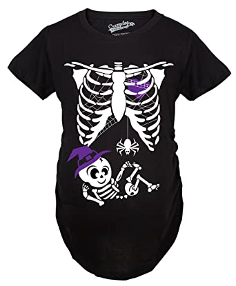 66193ab12577d Crazy Dog T-Shirts Maternity Witch Baby Bump Cute Pregnancy Tshirt  Halloween Night (Black
