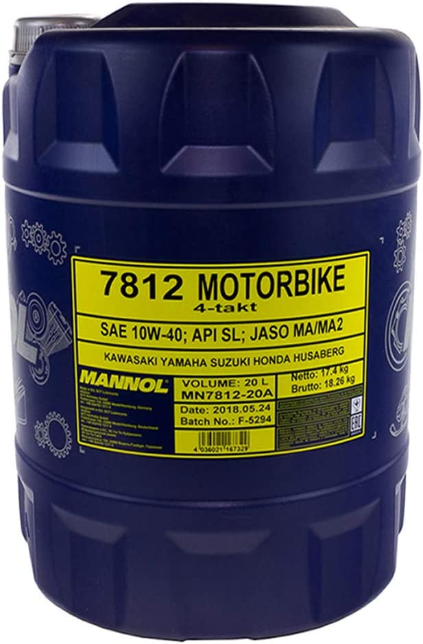 Mannol 7812 Motorbike 4 Takt Api Sl 20 Liter Auto