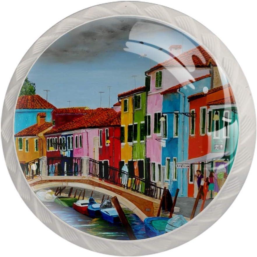 LORVIES Burano Venice Italy Furniture Decoration Drawer Handles Pull Knobs for Wardrobe Dresser Kitchen