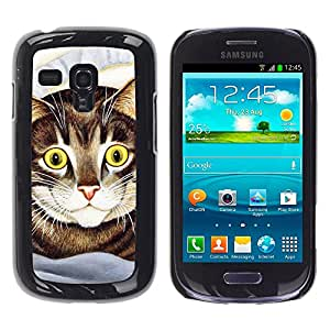 Vortex Accessory Carcasa Funda PARA SAMSUNG GALAXY S3 MINI i8190 ( NOT FOR S3 ) For - Cat Painting American Shorthair Happy