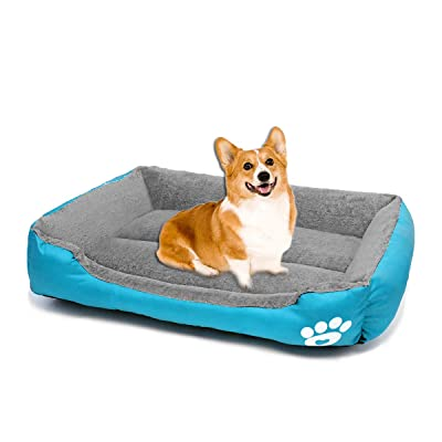 Faux Fur Cuddler Round Comfortable Self Warming Indoor Sleeping Bed Multiple Sizes Small Round Soft Plush Burrowing Cave Hooded Cat Bed Donut for Dogs Cats and Colors Brown 50CM Blivener Pet Bed