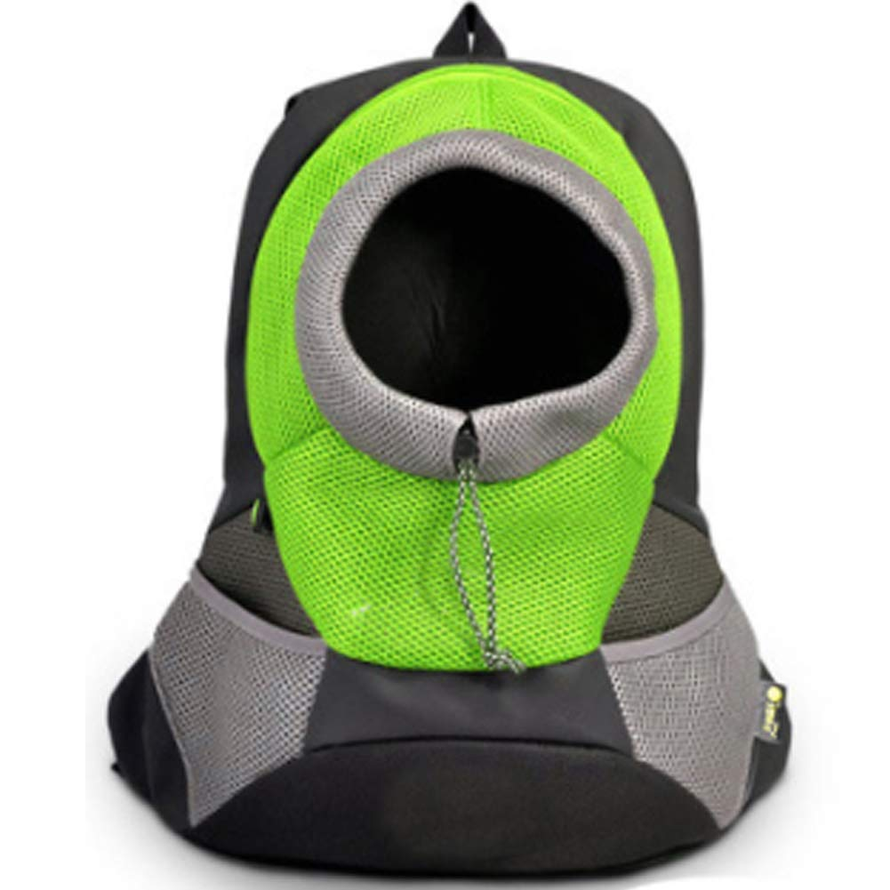 Green Small green Small Comfortable Dog Cat Carrier Backpack,Puppy Pet Front Bag with Breathable Head Out Design for Small Dogs Carrier Bike Hiking Outdoor