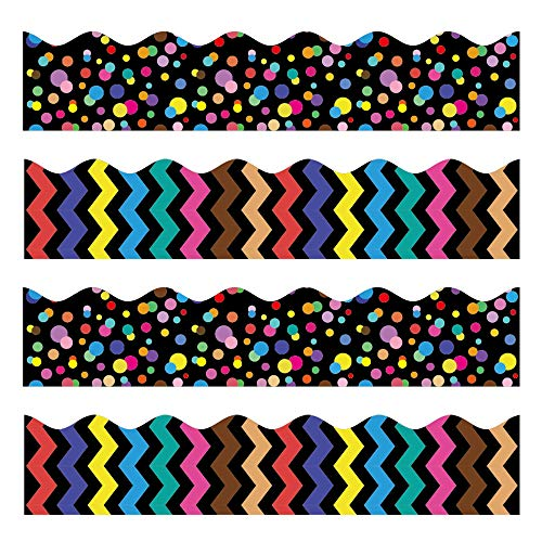 Bulletin Borders, 80 ft Back-to-School Decoration Borders for Bulletin Board/Black Board/Chalkboard/Whiteboard Trim, Teacher/Student Use for Classroom/School Decoration, 2 Set