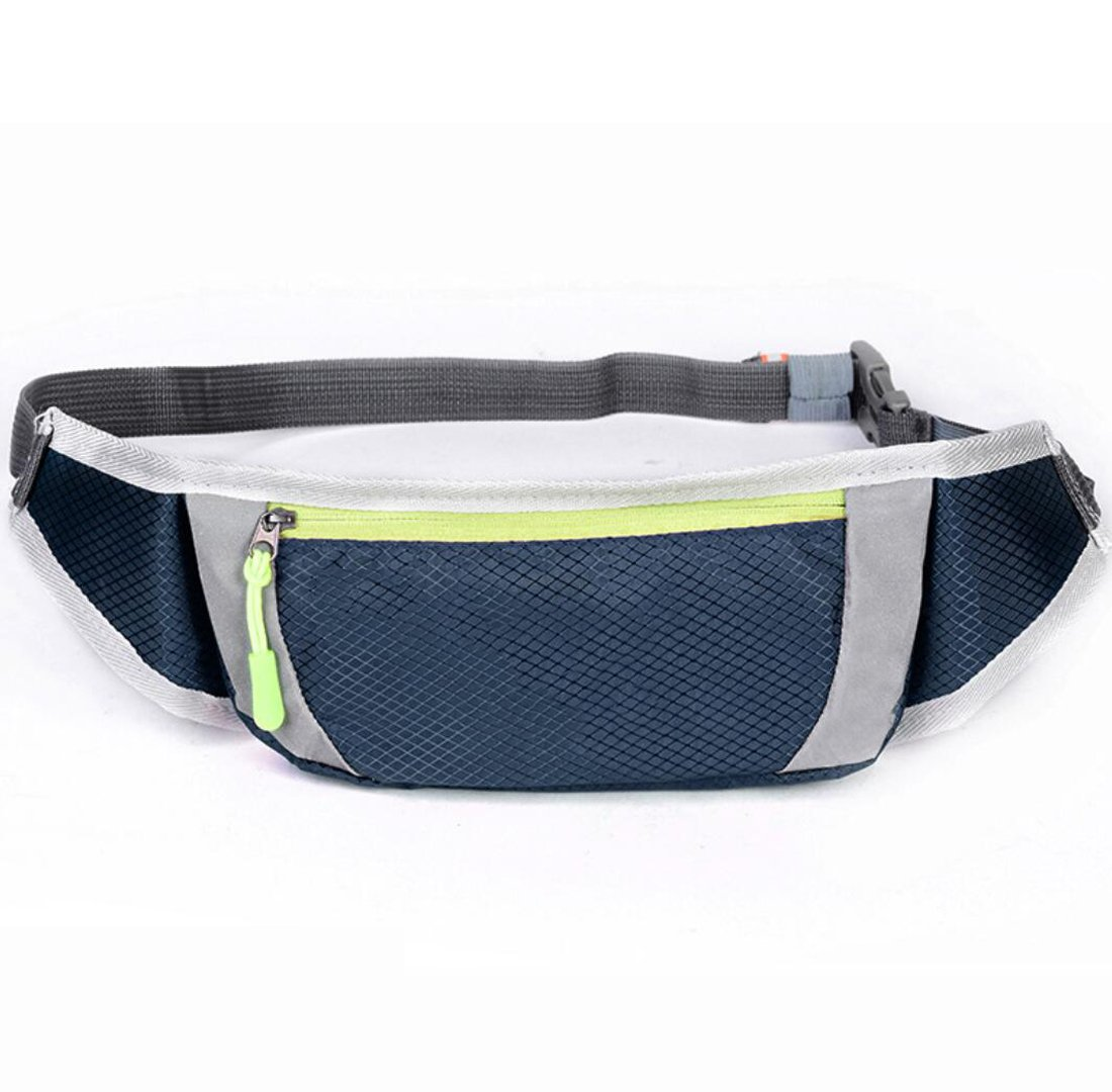 Red, Blue, Black, Green MUZI New Waterproof Outdoor Breathable Belt Reflective Strip Sports Pockets Fashion Running Pockets Diagonal Cross Chest Bag Independent Headphone Hole Four Color Optional