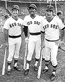 Boston Red Sox Carl Yastrzemski, Fred Lynn & Jim Rice In 1975 8x10 Photograph
