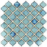 "tile kitchen floor SomerTile FKOLTR33 Tinge Marine Porcelain Floor and Wall Tile, 12.375"" x 12.5"", Blue"
