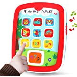 REMOKING Mini Baby Tablet,Kid's Learning Play Centre with Lights and Sounds, Toddlers,Boys and Girls Early Educational…