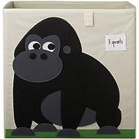 3 Sprouts Storage Box - Gorilla, Black, 1 Count