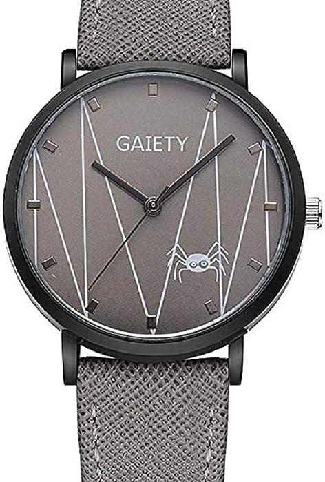 Scpink Relojes con patrón de araña para Mujeres, Relojes de señora analógicos únicos Relojes Femeninos a la Venta Relojes de Pulsera Ocasionales para ...