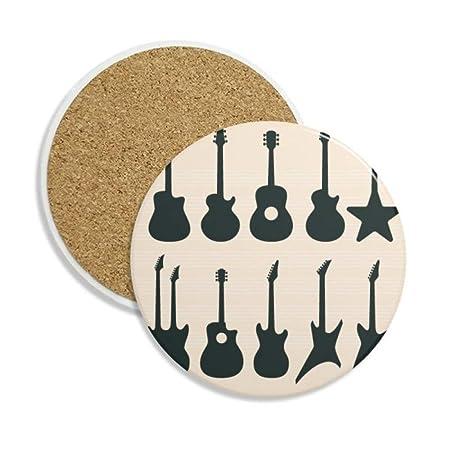 Guitarra eléctrica música vitalidad sonidos cerámica taza de ...
