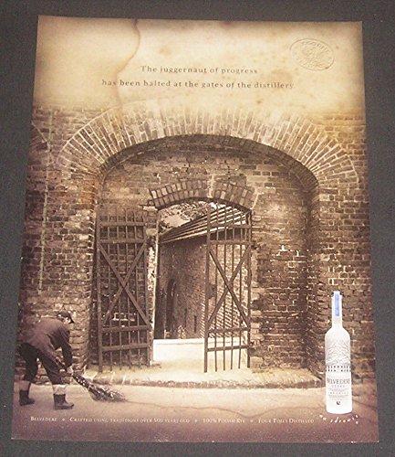 2001-print-ad-belvedere-vodka-gates-of-the-distillery-original-magazine-advertisement-collectible-pa