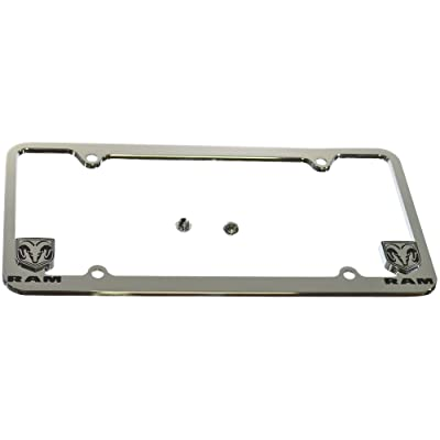 Bully WL031-C Chrome Dodge License Plate Frame Holder Front or Back Bumper Shows Car Tags - Exterior Accessories for Trucks, Cars and SUVs - 1 Piece Genuine Licensed Product: Automotive