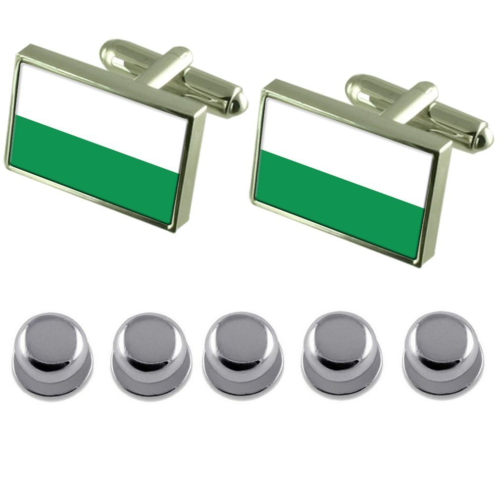 Shirt Dress Studs Styria Flag Cufflinks