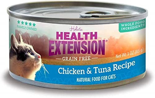 Health Extension Grain Free Grain Free Chicken Tuna for Cats – 2.8 oz cans 24 cans in a case