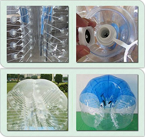 iMeshbean 2PCS 1.5 M PVC Mix Color Inflatable Bumper Ball Body Zorbing Ball Human Zorb Bubble Soccer / Football for Adults and Kids Model# 302 USA