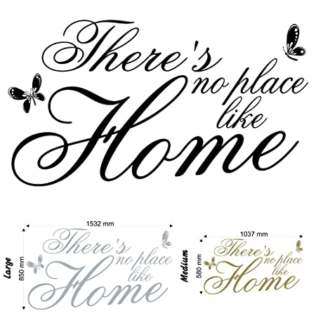 Theres No Place Like Home V2 Wall Decal Sticker Quote Lounge