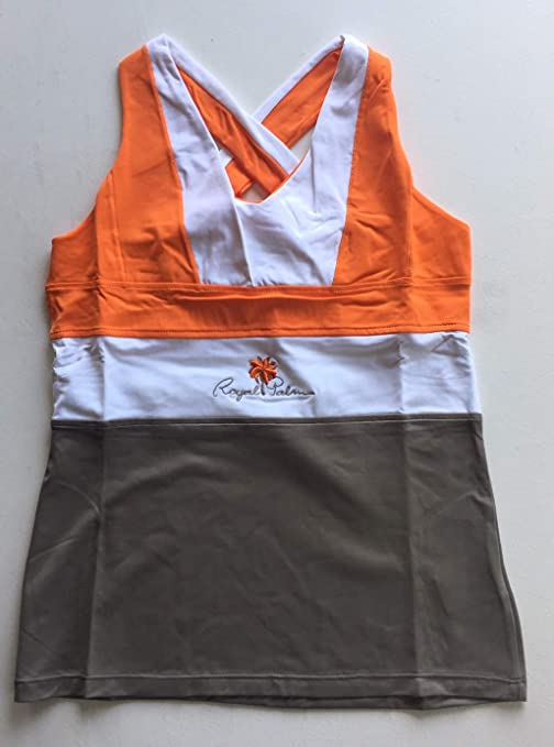 ROYAL PALM Camiseta Woman Tecnica Glama Naranja/Marron ...