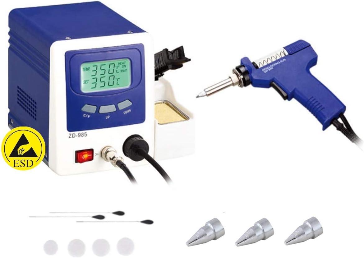 ZD 985 ZD-985 Station de dessoudage /à piston pour aspirateur 24 V 80 W avec chauffage c/éramique