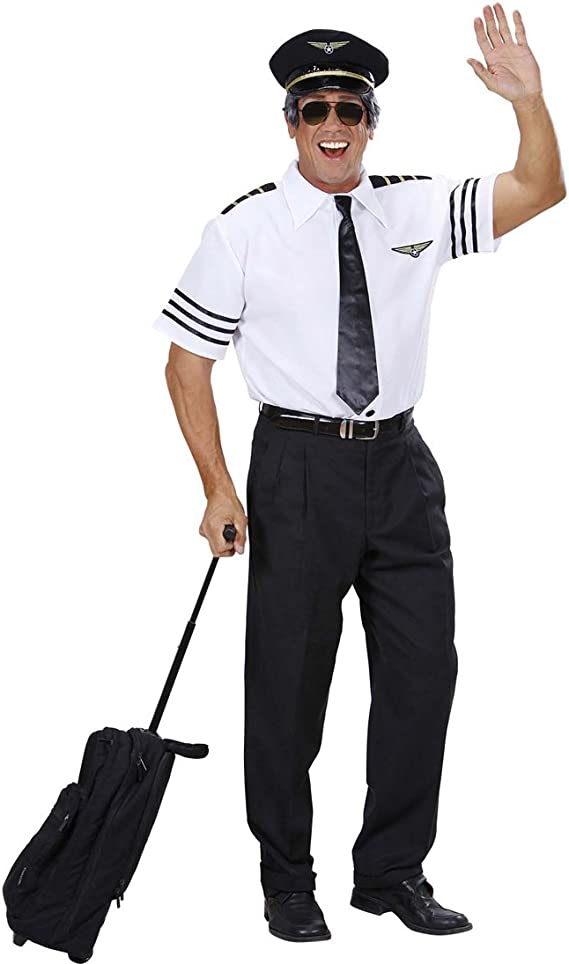 Set de disfraz de piloto disfraz de Capitán camisa de Commandant gorro corbata traje de piloto fiestas de despedida de soltera Striptease uniforme despedida de niño traje de aviador disfraz de carnaval