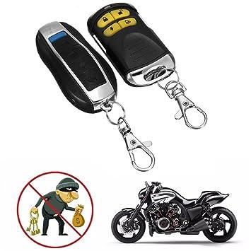 Dispositivo de alarma y protección contra robo de coche, 12 V, protección de línea de corte, doble control remoto, tipo motocicleta, accesorios de ...