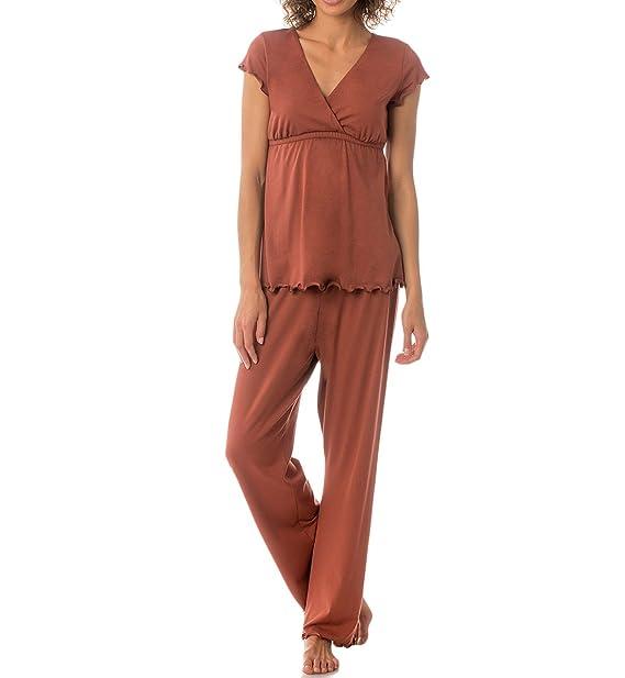 5ef660d00a322 Amazon.com  Majamas Genna Nursing Pajama Set  12-9901