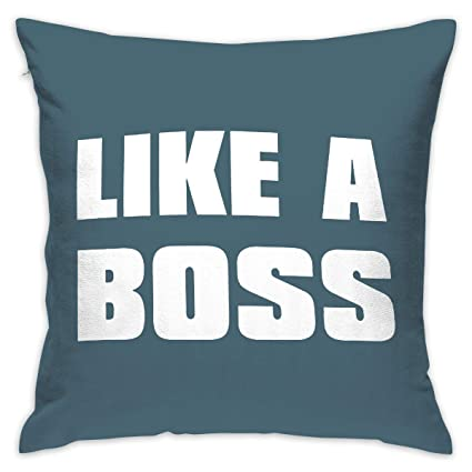 Amazon.com: ANGEL P Like A Boss Throw Pillow Cover, Daily ...
