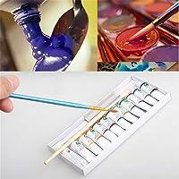 CHOUREN 12 Tubes/Set Portable 5ml Art Water Color Travel Kids Watercolour Paints Kit