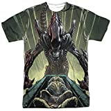 Alien Horror SciFi Movie Comic Book Egg Collection Adult 2-Sided T-Shirt Medium