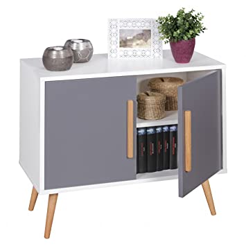 home collection24 buffet 80 x 70 x 40 cm scanio commode avec 2 portes chambre commode