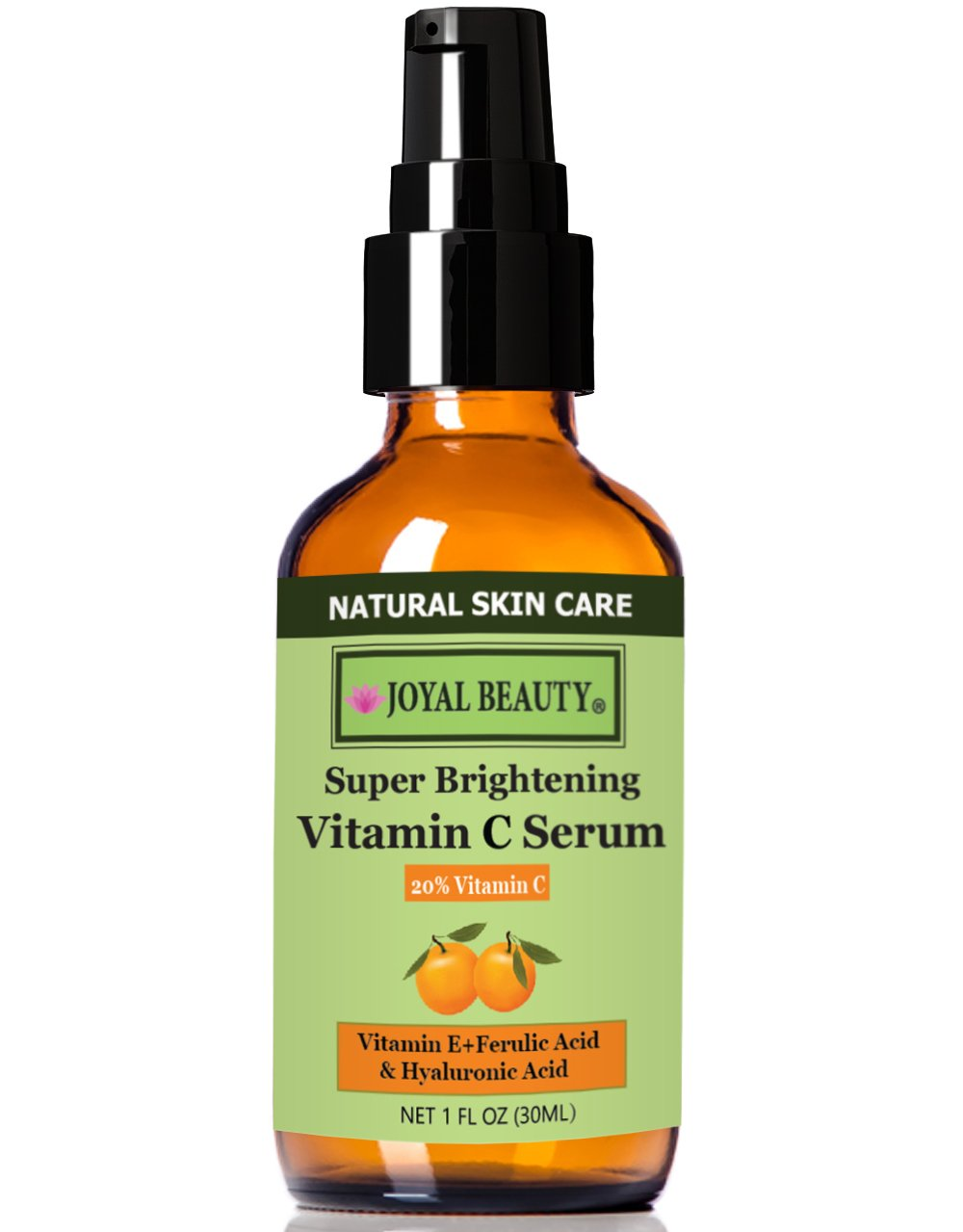 Best Organic Vitamin C Serum 20% for Face by Joyal Beauty. #1 Premium Vitamin C E Ferulic Combination Antioxidant Treatment. Best For Anti-aging/Repairing Sun Damage/Firming/Anti-acne/Skin Whitening.