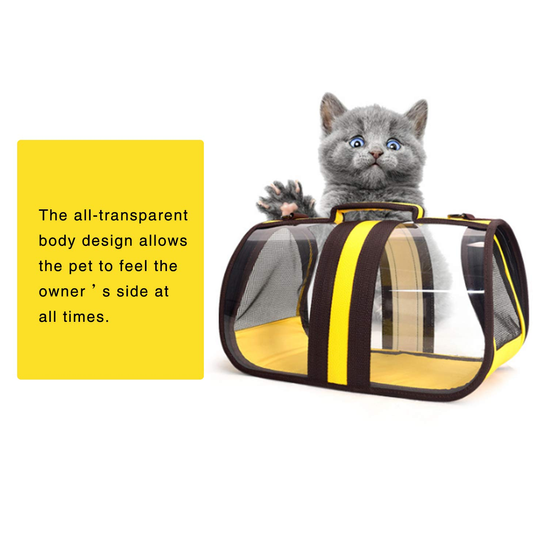 WY1688 Pet Sacchetti Zaino Pet Pet Pet Carrier Dog Cat Cucciolo Coniglio Leggero Morbido Parteggiato Pieghevole Impermeabile Trasparente,B,S 22d7cf