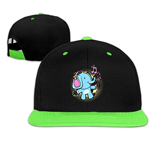 fefd4f8650d1d Amazon.com  Oopp Jfhg Dj Headphone Elephant Hip Hop Baseball Caps ...